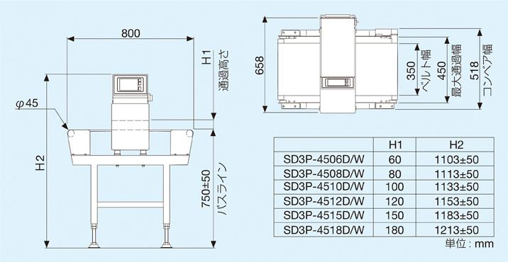 SD3P-45typeの外観図