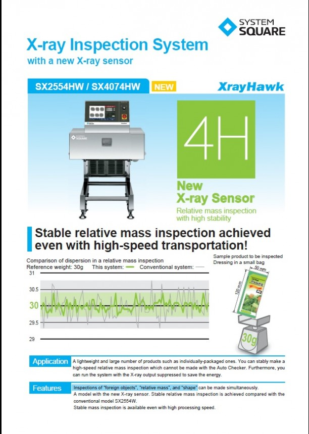 Xray Inspection System New Xray Sensor SX2554HW SX4074HW