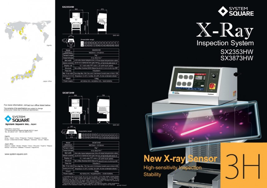 Xray Inspection Systems New Xray Sensor SX2353HW SX3873HW