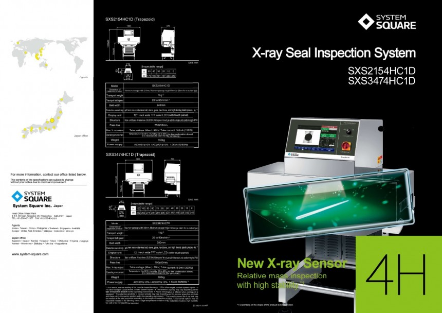 Xray Seal Inspection Systems New Xray Sensor SXS2154HC1D SXS3474HC1D