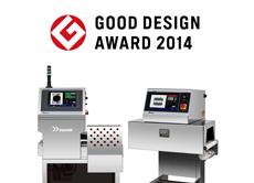 荣获2014年优良设计奖<br /> (公益财团法人)日本设计振兴会<br /> X光异物检测机 SX2554W<br /> 夹包检测机 SLS1000-C2